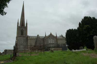 Photograph of Caledon Church & Galbraith Lowry's Tomb (Pyramid)